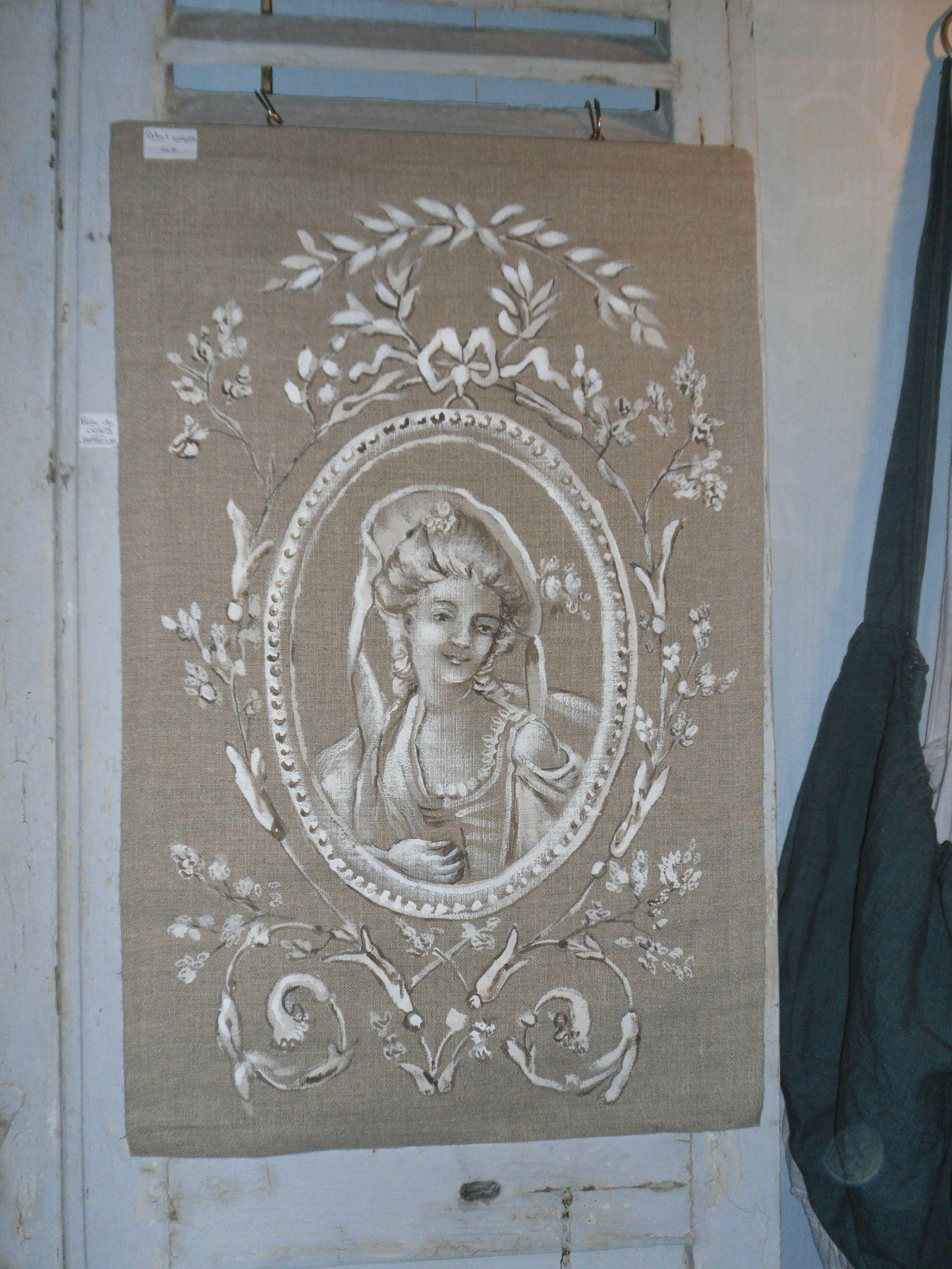 peinture de marquise sur lin la d co des anges. Black Bedroom Furniture Sets. Home Design Ideas