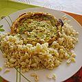 Quiche saumon brocolis, ebly...
