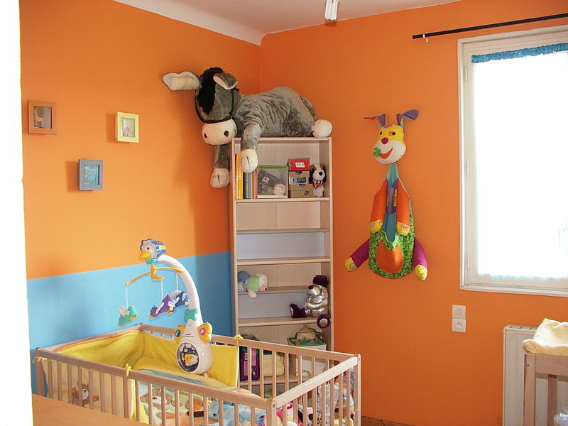 chambre orange et jaune - Orange Chambre Bebe