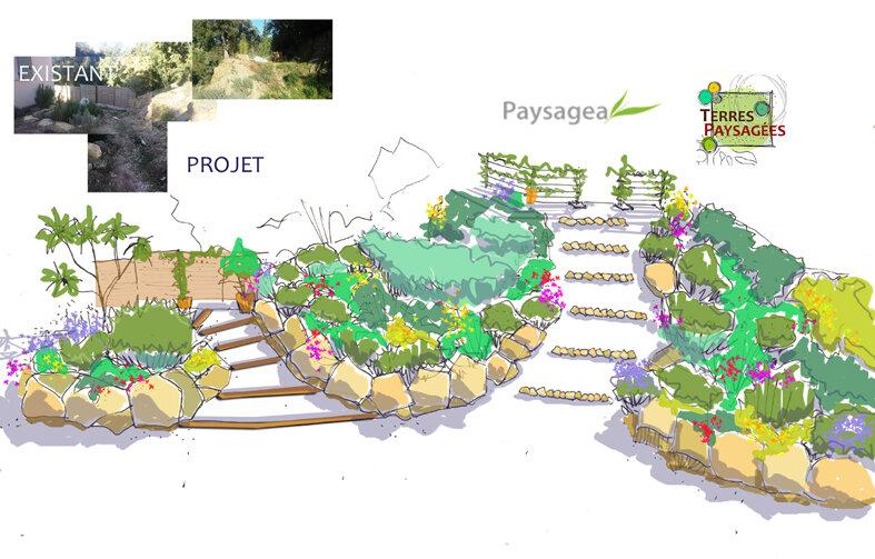 Jardin Plan de la Tour (83) - 2016 - Etude
