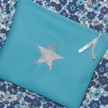 Trousse Simili cuir Turquoise. 15€