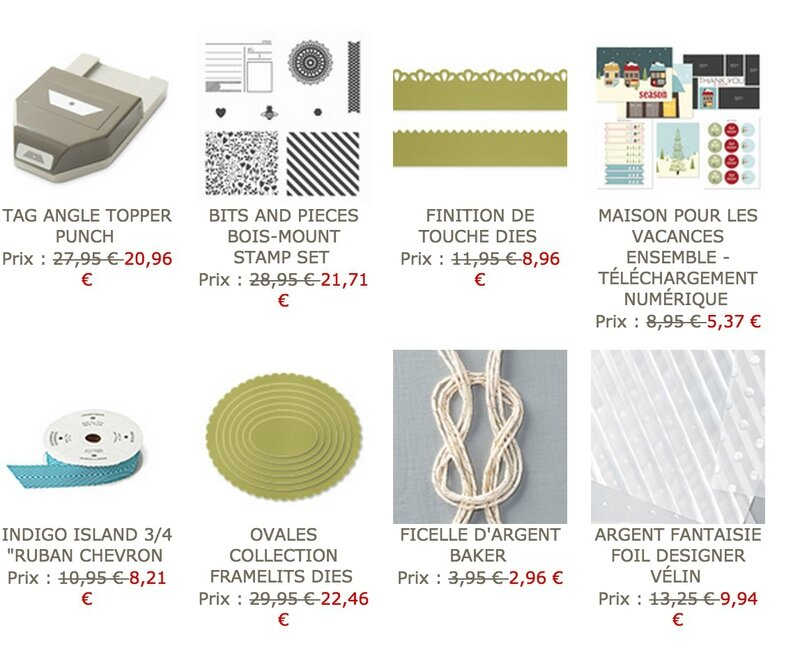 OFFRE HEBDOMAIRE STAMPIN UP