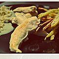 Aiguillettes de poulet, sauce riesling