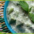 Raïta de concombre à la menthe : inde