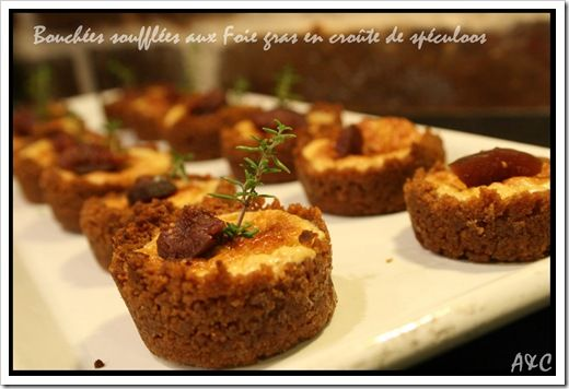 Bouchées soufflées aux foies gras en croûte de spéculoos (1)