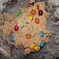 Cookies vanille et m&m's