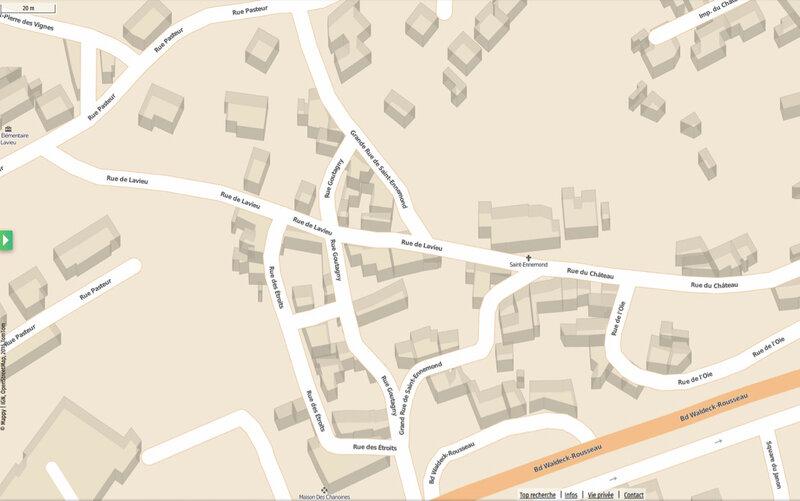 grande rue de Saint-Ennemond, plan Mappy