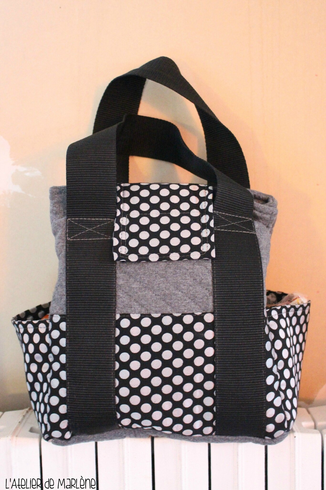 LUNCH BAG gris et noir