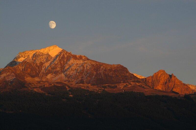 25-09 Coucher, lever Mont Pourri