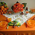 Table et menu à l'orange