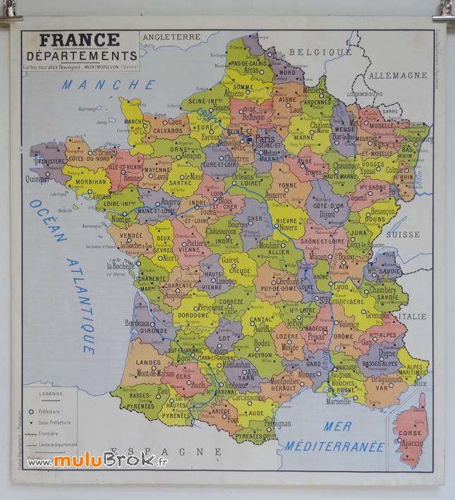 CARTE-FRANCE-Départements-Rossignol-1-muluBrok-Vintage