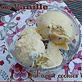 Glace vanille façon cookie dough