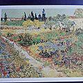 Vincent Van Gogh - jardin fleuri
