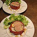 Artichaut et magret fumé au foie gras et vinaigrette au vinaigre balsamique