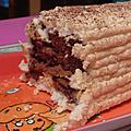 Buche noix de coco chocolat meringue