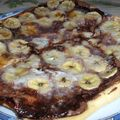 Pizza nutella, banane, coco