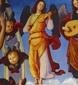 Anges musiciens détail de l'Ascension du Christ
