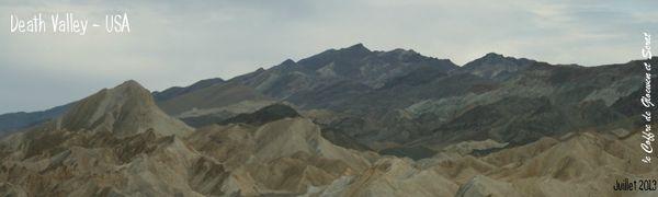 Paysages de la vallée de la mort - Road trip USA-Ouest américain - chez Gloewen et Scrat (1)