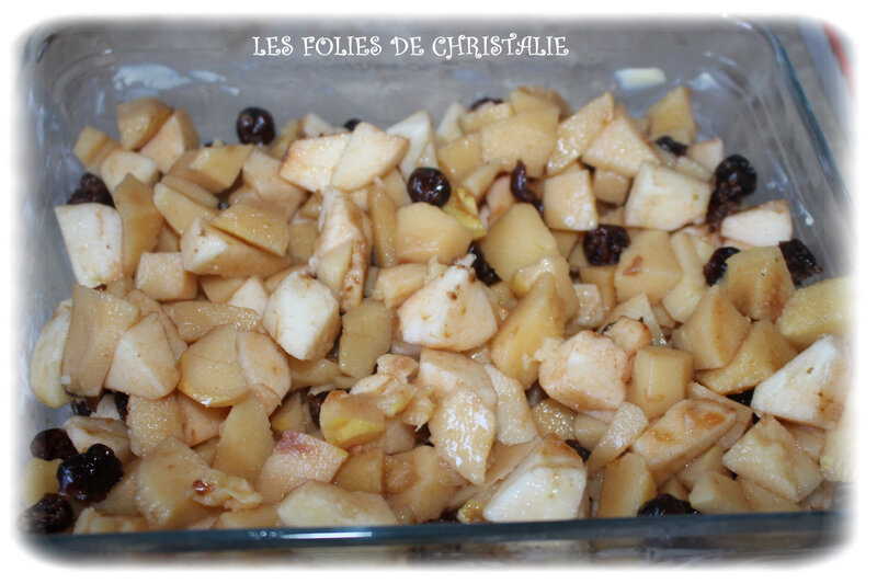 Crumble coings cerises 2