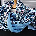 La vie en bleu : 15 façons de l'adopter - foulard, ceinture, coussin, sac, collier, coussin...