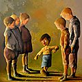 Un enfant parmi les autres - 73x60cm - Acrylique sur toile - Disponible