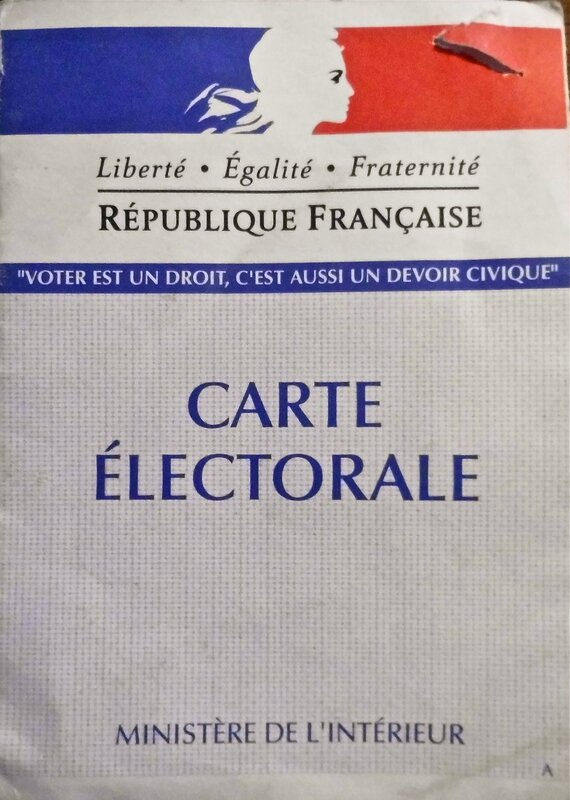 carte électorale MR