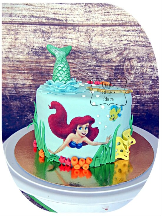 Gateau Ariel La Petite Sirene Little Mermaid Ariel Cake Prunille
