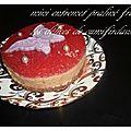 Mini entremet praliné fraise