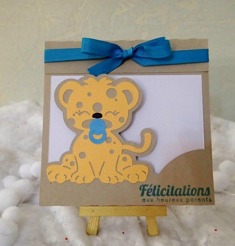 carte felicitations leopard fille et garçon 4