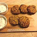 Galettes de patates douces et lentilles vertes( 95 cal/ par galette)