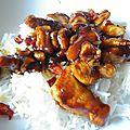 fricassée au poulet salée-sucrée