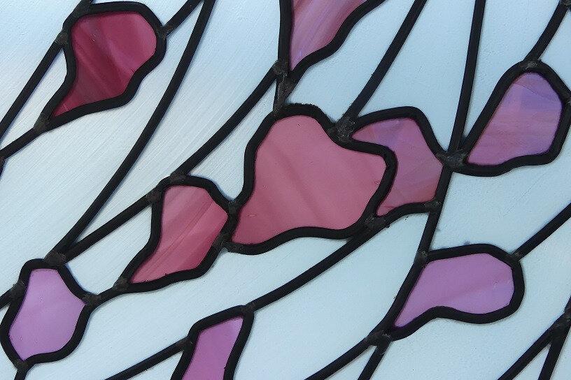 verres soufflés bariolés - vitrail - clotilde gontel
