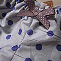 Culotte BIANCA en coton parme grisé à pois violet (3)