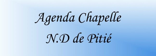 Agenda 2 chapelle