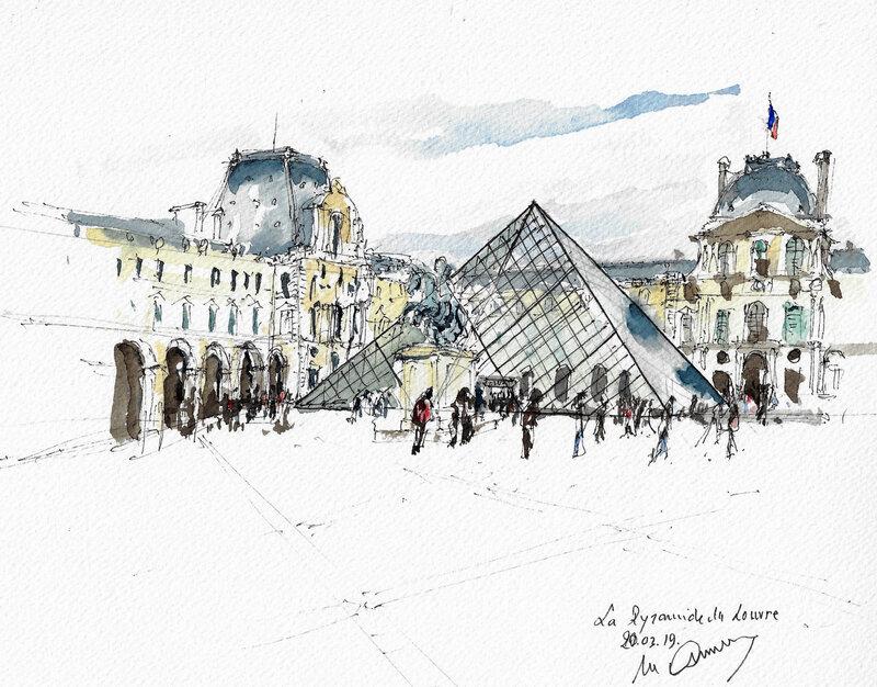 La Pyramide et le Louvre 2019