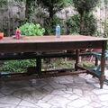 Table d'atelier devient table de jardin