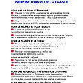 10 propositions pour la france