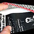 pochettes à mouchoirs imprimé façon journal
