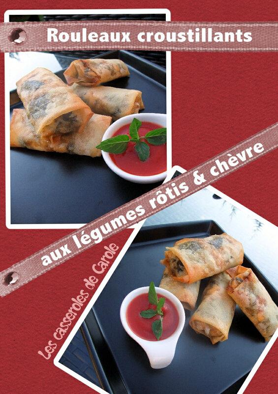 Rouleaux croustillants légumes rôtis & chèvre (scrap)
