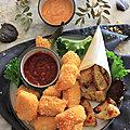 Nuggets de poulet panes au chips de lentille