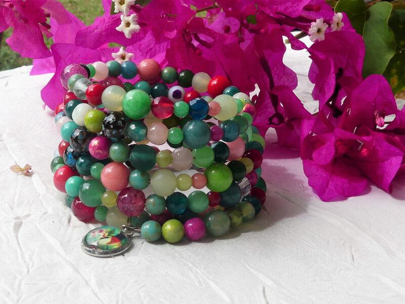 Les bracelets en perle de gemmes