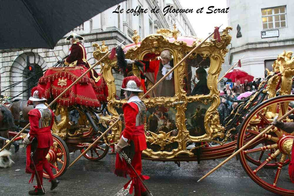 Carrosse de princesse cendrillon au Lord Mayor show