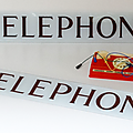 Vintage ... authentique plaque telephone * cabine rouge britannique
