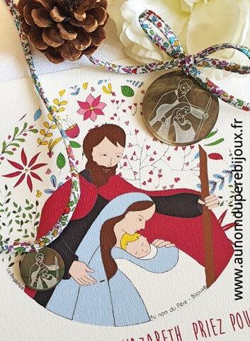 Catho Box St Joseph Ste Famille multicolore (médaillon et collier) - 46 €