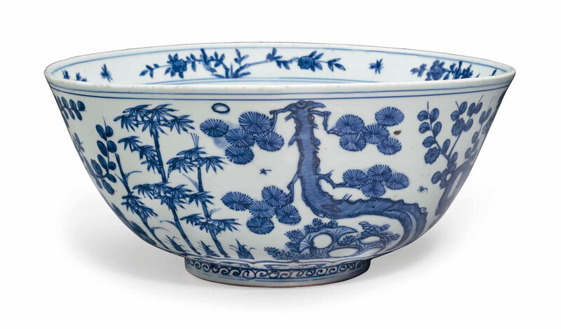 A large blue and white bowl, Ming dynasty, 16th century