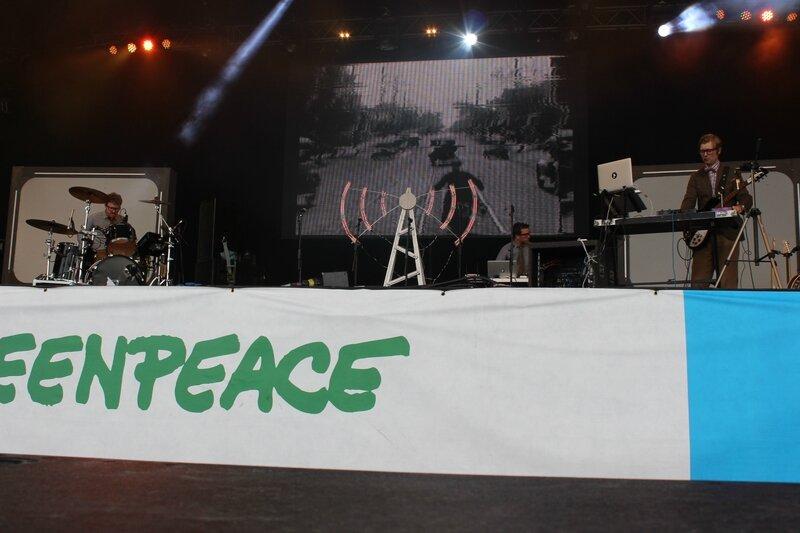 Public Service Broadcasting live Glastonbury festival 2014 Westholts stage