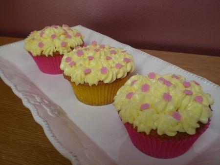 Cupcakes au citron et sa crème mascarpone