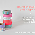 Opération masking tape chez happy home