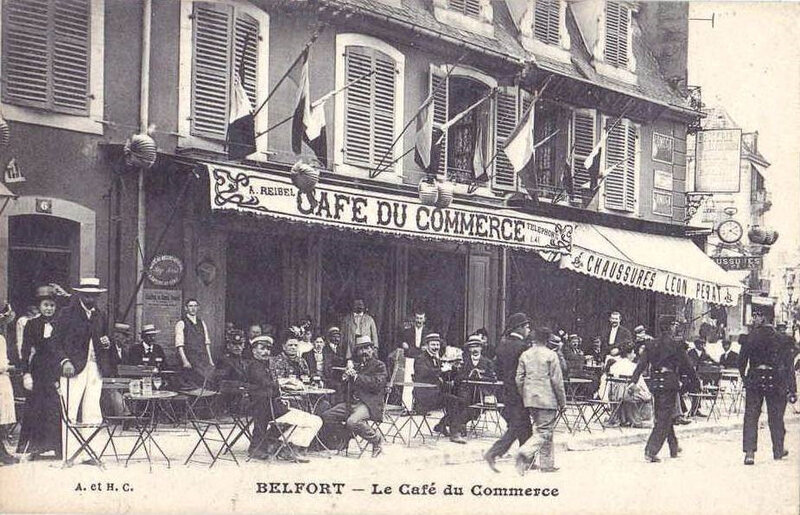 CPA Belfort Café du Commerce Fabg France