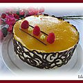 Entremets exotique : mangue - banane - passion